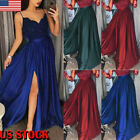 New Women Bridesmaid Wedding Long Skirt Evening Cocktail Party Prom Gown Dress
