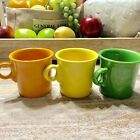 3 Vintage Fiesta Ware Tom Jerry Ring Handle Homer Laughlin Coffee Cups