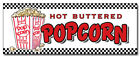 24 Popcorn Decal Sticker Stand Cart Concession Equipment Pop Corn