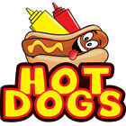 Hot Dogs Concession Decal Sign Cart Trailer Stand Sticker Equipment