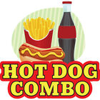 Hot Dog Combo Concession Decal Sign Cart Trailer Stand Sticker Equipment
