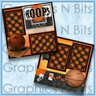 HOOPS Printed Premade Scrapbook 2 Page Layout