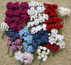 Over 800 Assorted Satin Ribbon Roses