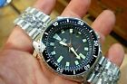 Mens 42mm SEIKO 150m Automatic Classic Black Diver  7002-7001 17j SS