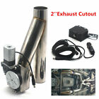 US Sale 2 Car Motorized Electric Exhaust Cutoff Bypass Valve Cutout Remote Kit