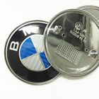 73mm 82mm 2 Pins Car Emblem Plated Abs Front Badge Logo For Bmw Hoodtrunk