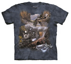 NEW SILVER BELLE RUN Train Tie Dye T-Shirt from The Mountain (Sizes S -5XL)