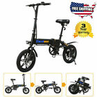 14Folding Electric Bike Collapsible Moped Bicycle W LED Headlight 3Modes USB