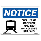 Osha Notice - Supplied Air Respirator Required Sign With Symbol Heavy Duty