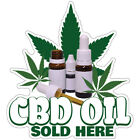 Cbd Oil Sold Here Decal Concession Stand Food Truck Sticker