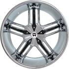 4 GWG Wheels 22 inch Chrome Black SPADE Rims fits DODGE MAGNUM SRT8 2005 - 2008