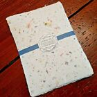 Handmade Paper Sheets 10 sheets Blue Marbled Free Shipping  899