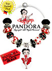 Authentic Pandora Charm Bracelet Silver Red with Betty Boop European Charms New