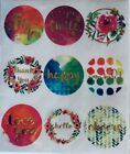 Smile Love Happy Thank You Wonderful Cheers Scrapbook Stickers Seals