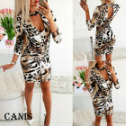 Womens Ladies Bandage Bodycon Long Sleeve Evening Party Cocktail Club Mini Dress