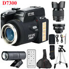 33MP D7300 Digital Camera Camcorder DSLR Camera Wide Angle Lens Telephoto Lens D