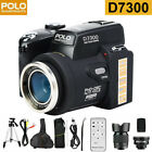 D7300 33MP HD Camcorder Camera Wide Angle Lens+24X Telephoto Lens+LED+Tripod TG
