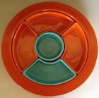 Vintage Fiesta Red & Turquoise Relish Tray
