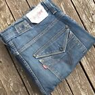 LEVI 503 LOOSE CINCH BACK STRAIGHT MENS VINTAGE STYLE JEANS W34 L31
