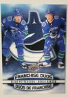 2019-20 UD TIM HORTONS NHL HOCKEY FRANCHISE DUOS ELIAS PETTERSSON