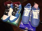 Nike sB Dunk high Blue OX And Low Pink Ice 85