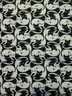 MOD CATS IN FISHBOWLS CAT BLACK WHITE COTTON FABRIC FQ