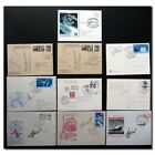 Collection of 10 handsigned cosmonaut autographs 9h34