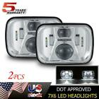 2PC DOT 7x6 LED Headlight HI-LO Beam For Dodge W250 D150 D250 Van Ram Pickup 5X7
