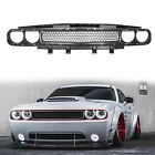 New Black w/ Chrome Trim Molding Upper Grill Grille For 08-14 Dodge Challenger