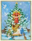 Caspari Boxed Christmas Cards 525 x 675 Nativity and Tree 89305