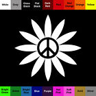 Peace Daisy Decal Buy 1 Get 1 Free Flower Sticker BOGO
