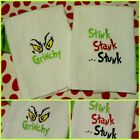 Grinch TOWEL Set STINK StanK STunK Grinch KITCHEN/ BATH Decor / Gift 🎄