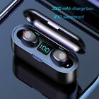 HATOSTPED Bluetooth Earphones  Mini Wireless Headset Power Display with charging