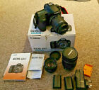 CANON EOS 60D BOXED AND 50MM LENS, EFS 18-55MM LENS, EFS 18-135MM LENS AND 2 BAT