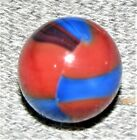 Marble King Spiderman Oxblood Marble - Oxblood, Red & Blue - 5/8 inch - MINT-