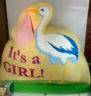 BebeSounds HUGE Inflatable Illuminated Yard Birth Announcement Its A Girl