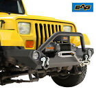 EAG Front Bumper with LED Light Light Frame Fit 87 06 Jeep Wrangler TJ YJ