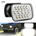 2Pcs 7X6 5X7 Inch LED Headlights High low Beam Replace H6054 45W For Pickup
