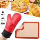 Heat Resistant Oven BBQ Grilling Glove Silicone Baking Mat Sheet Half Sheets