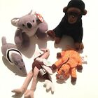 TY Beanie Babies Plush Lot of 5 Zoo Ants Twigs Stretchy Mel Congo 3 Mini 2 Reg