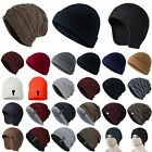 Mens Winter Stretchy Warm Beanie Hat Casual Hip Hop Solid Ski Outdoor Comfy Caps