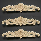 Unpainted Wood Carved Decal Corner Applique Frame for Home Furniture Wall