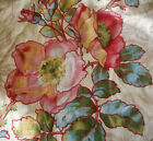 Antique French Wild Roses Floral Cotton Fabric Pink Yellow Red Blue Green