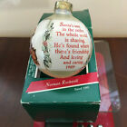 Vintage Norman Rockwell 1989 Christmas Ornament Saturday Evening Post Hallmark