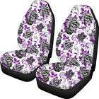 Floral Rose Case Seat Covers Set Of 2 For Women Universal Fit Most Car Truck
