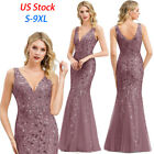 US Ever-Pretty V-Neck Long Evening Prom Dresses Cocktail Wedding Party Gown 7886