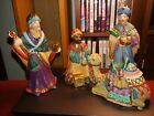 THREE KINGS WISE MEN  CAMEL PORCELAIN NATIVITY FIGURES CHRISTMAS vintage 1994