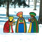 Christmas Outdoor Yard Decorations Nativity Scene Three Wise Men Kings Set