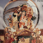 Kirkland Christmas Music Water Globe Revolve Base Nativity Sign Joy To World Box