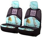 2 Pack Realtree Mint Green Camo Camouflage Seat Cover with Headrest New In Box